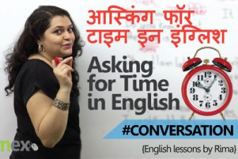 Asking for time in English.
