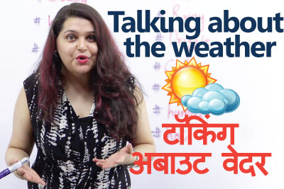 Learn English through Hindi - Talking about weather vocabulary