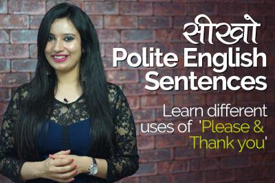 English speaking lesson to learn polite English sentences