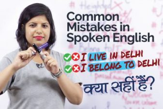 Common Mistakes in English Speaking