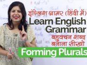 English Grammar Rules – Forming Plurals (बहुवचन शब्द बनाना सीखों)