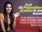 Learn All Prepositions of Place in one English Grammar Lesson with Translation in Hindi