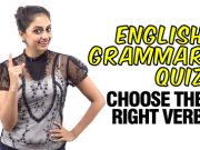 Grammar Quiz – Choose the right Verb