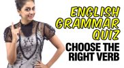 Grammar Quiz – Choose the right Verb