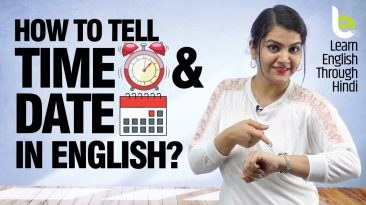 How To Say Time And Date In English? | Parts Of The Day | English Speaking Practice Lesson In Hindi