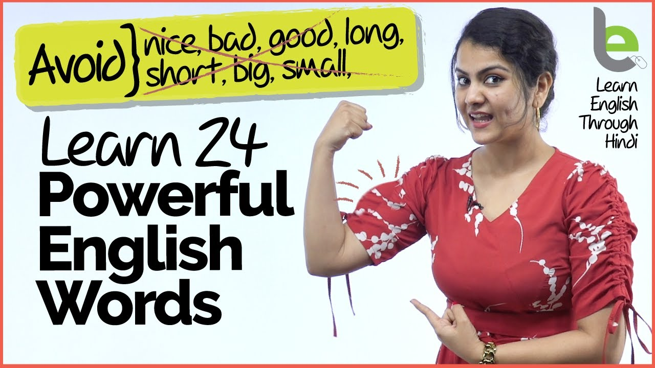 Stop Speaking Basic English   Learn 24 Powerful English Words With Practice Sentences
