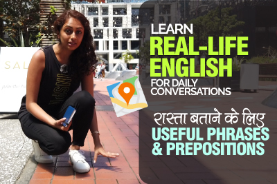 Learn Real-Life English For Daily Conversations | Useful Phrases & Prepositions For Directions | In Hindi